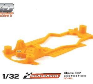Chassis, Scaleauto, 3DP Ford Fiesta WRC SCX