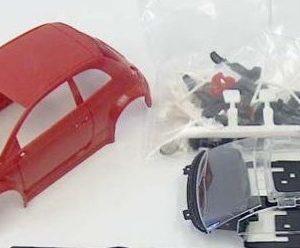 Carroçaria vermelha Abarth 500 NSR