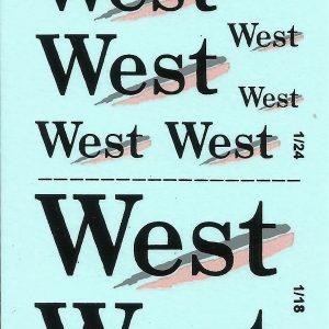 Decalque West 1/32 & 1/24