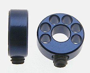 Stopper, Scaleauto, aligeirado para eixo 3mm. Azul-anodizado alumínio M3