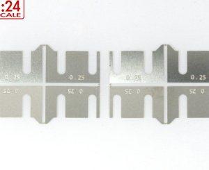 Espaçadores, Scaleauto, de eixo Scaleauto 0.25mm