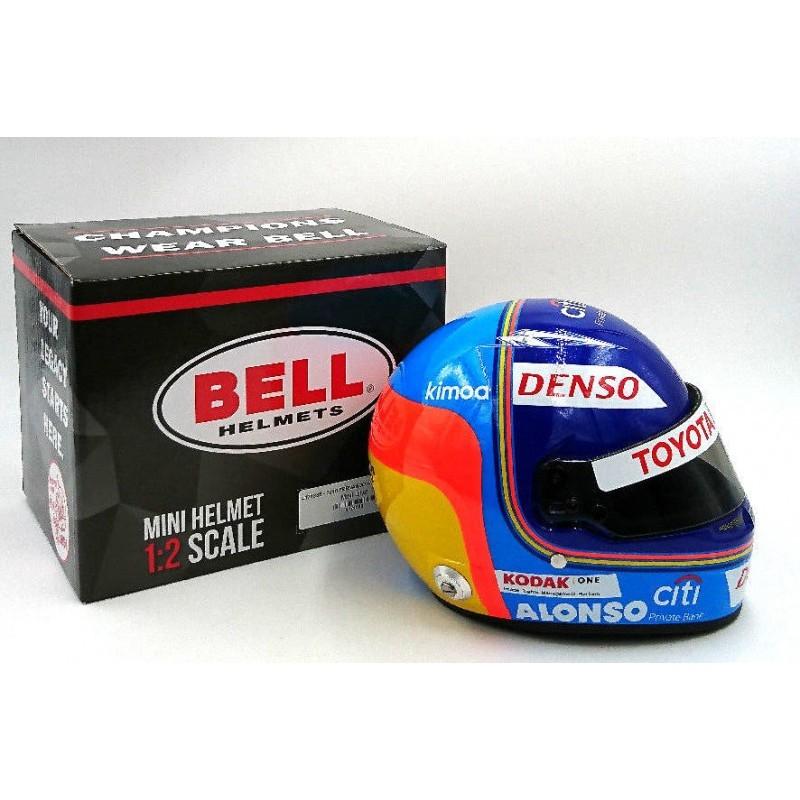 Mini Helmet F. Alonso - Le Mans 2018 - 1/2 Scale