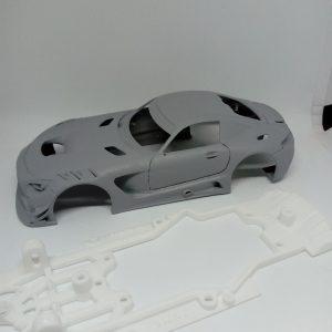 Carroçaria & Chassis 3D Mercedes AMG GT3 – Area71 Slots – Escala 1/32