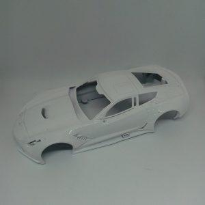Carroçaria & Chassis 3D Corvette C7R GT3 – Area 71 – Escala 1/32