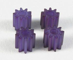 Pinhão em plástico 5mm diâmetro 9 dentes (x4)
