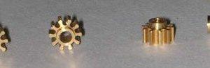 Pinhão, NSR, Inline em latão 5.5mm diãmetro 10 dentes