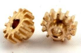Pinhão, NSR, Sidewinder em latão 6.5mm diâmetro 12 dentes