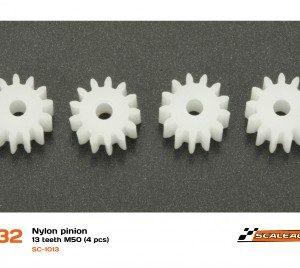 Pinhão, Scaleauto, nylon 13z M50 para eixos 2.38mm (4pcs)