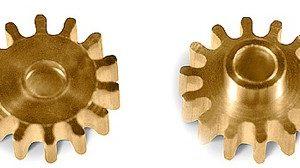 Pinhão, MR Slot, em latão 14z 7.5mm diâmetro (x2)