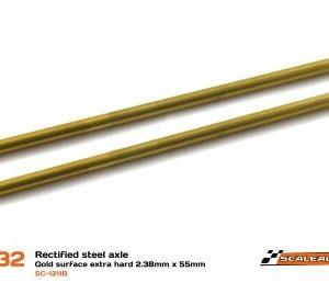 "Eixo, Scaleauto, em aço ""Hard Gold Surface"" de 2.38mm x 55mm"