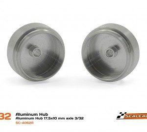 Jante Alumínio, Scaleauto, 17,5x10mm para eixo 2.38mm & Parafuso M2