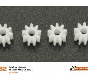 Pinhão, Scaleauto, 9d. M50 Nylon (4 unidades)