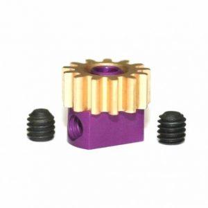 Pinhão em latão 13d. M50 para Eixos 2.38mm de 7.5mm fixação p/parafuso