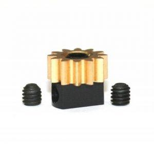 Pinhão em latão 12d. M50 para Eixos 2.38mm de 7.5mm fixação p/parafuso
