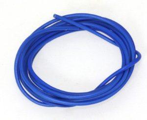 Cabo 1 mt azul siliconado