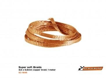 Palhetas em cobre 3,5x0,5mm 1m Super-Soft