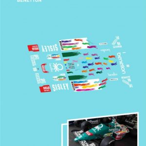 Decalque, Atalaya Decals, completo p/NSR F1 86-89 Benetton