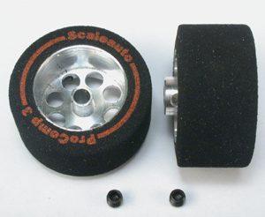 Roda, Scaleauto, de espuma 25.5 x13mm Procomp-3 para eixo 3mm. Jante ø17mm