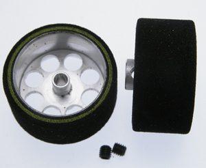 Roda de espuma, Scaleauto, 25.5x13mm Procomp-2 para eixo 3mm.. Jante ø21mm