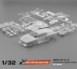 Carroçaria, Scaleauto, BMW M1 Grupo 5 em kit branco.