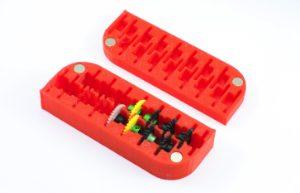 Caixa 3DP, Scaleauto, para 16 cremalheiras AW 1/32 15 & 16mm