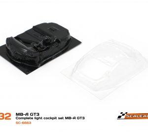 Cockpit, Scaleauto, lexan Mercedes SLS GT3