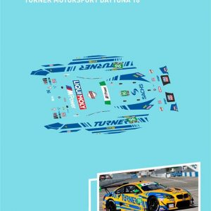 Decalque, Atalaya Decals, completo p/BMW M6 GT3 Turner Motorsport Daytona 2016