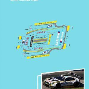 Decalque, Atalaya Decals, completo p/BMW M6 GT3 ROWE Racing Team