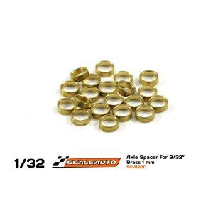 Espaçadores, Scaleauto, de eixo 3/32″ 1mm
