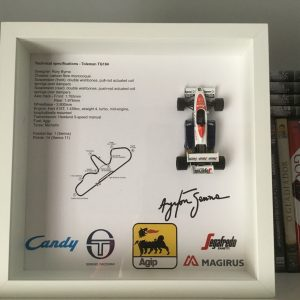Quadro 25×25 cm – Legend Series – Toleman TG184 Ayrton Senna