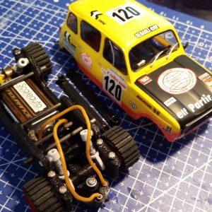Chassis, Gatillo a fondo, 3D inline para Renault 4L SCX