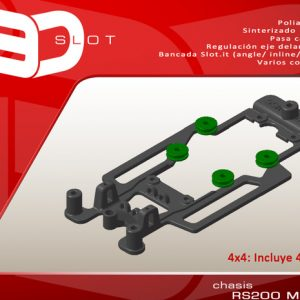 Chassis, i3D,  Ford RS200 MSC para suporte motor slot.it
