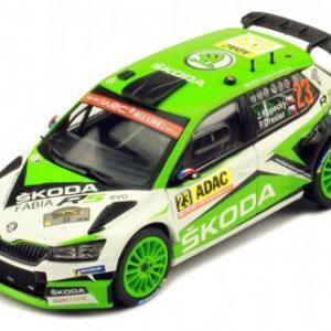 Skoda Fabia R5 EVO n°23 1º classificado WRC2 Rally da Alemanha 2019 Kopecky – Escala 1/43