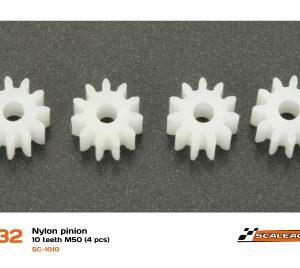 Pinhão, Scaleauto, 10z M50 Nylon (4 unidades) 5.5mm