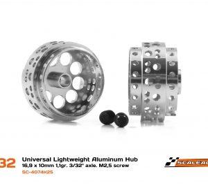 Jante, Scaleauto, alumínio 16.9x10mm. Ultra Lightweight V.2 para Eixo 3/32″ c/parafuso M2,5. Peso 1,10 gr.