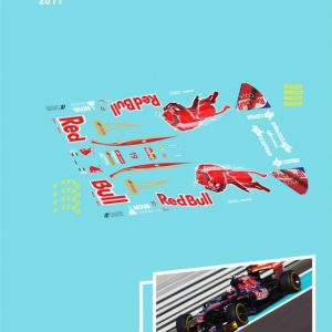 Decalque, Atalaya Decals, completo p/NSR F1 86-89 Toro Rosso 2011