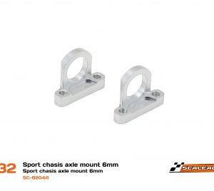 Suporte eixos 6mm Chassis Sport em Alumínio CNC