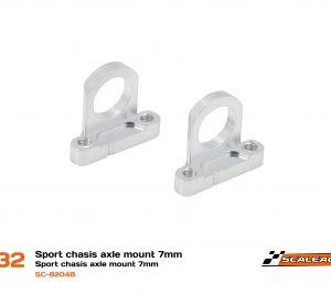 Suporte eixos 7mm Chassis Sport em Alumínio CNC