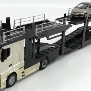 Camião, Mercedes-Benz Actros, de transporte de viaturas c/VW Polo GTI