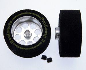 Roda, Scaleauto, de espuma 25.5x11mm Procomp-2 para eixo 3mm. Jante ø17mm