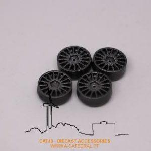 Jante (x4) 3D resina asfalto OZ racing 18 VW Polo R5