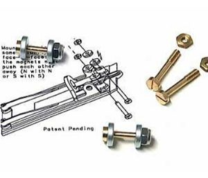 Suspensão magnética, Slot.it, para suporte motor HRS