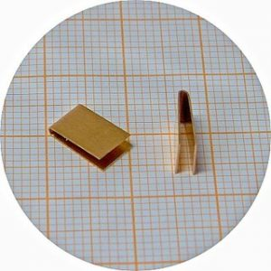 Clips en cobre para palhetas escala 1/24 – 5.4mm largura – pack 10 unidades