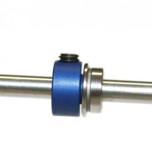 Stopper, Sloting+, aligeirado para eixo 3mm. Azul-anodizado alumínio M3