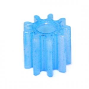 Pinhão, Sloting+, em nylon 5mm diâmetro 9 dentes (x4)