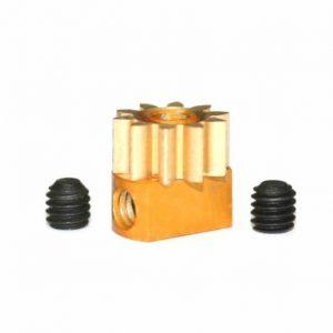 Pinhão em latão 10d. M50 para Eixos 2.38mm de 6.5mm fixação p/parafuso