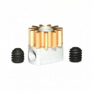 Pinhão em latão 11d. M50 para Eixos 2.38mm de 6.5mm fixação p/parafuso