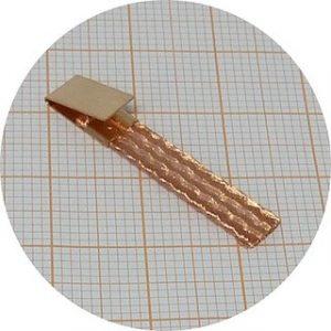 Palheta Standard dureza média, 0.65mm espessura, em cobre p/escala 1/24 – pack 10 unidades + 4 clips