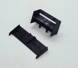 Aileron, CC Slot 3D, em borracha flexível dianteiro & traseiro para F1 NSR