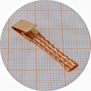 Palheta Super fina, em cobre, p/escala 1/24 – pack 10 unidades + 4 clips